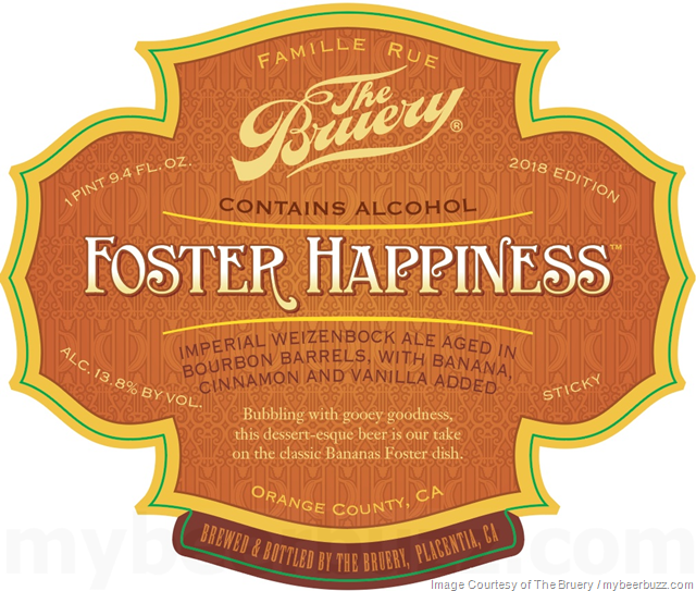 The Bruery - Foster Happiness Coming To Reserve Society