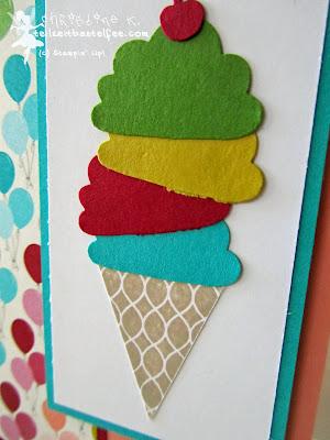 stampin up, pennant parade, ice cone, eistüte, wimpelwünsche, törtchenstanze, cupcake punch, birthday basics