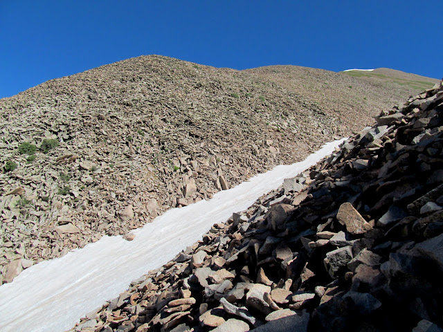 Loose talus while bypassing the snow