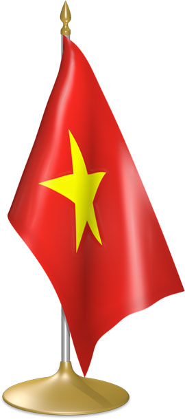 Vietnamese table flags - desk flags