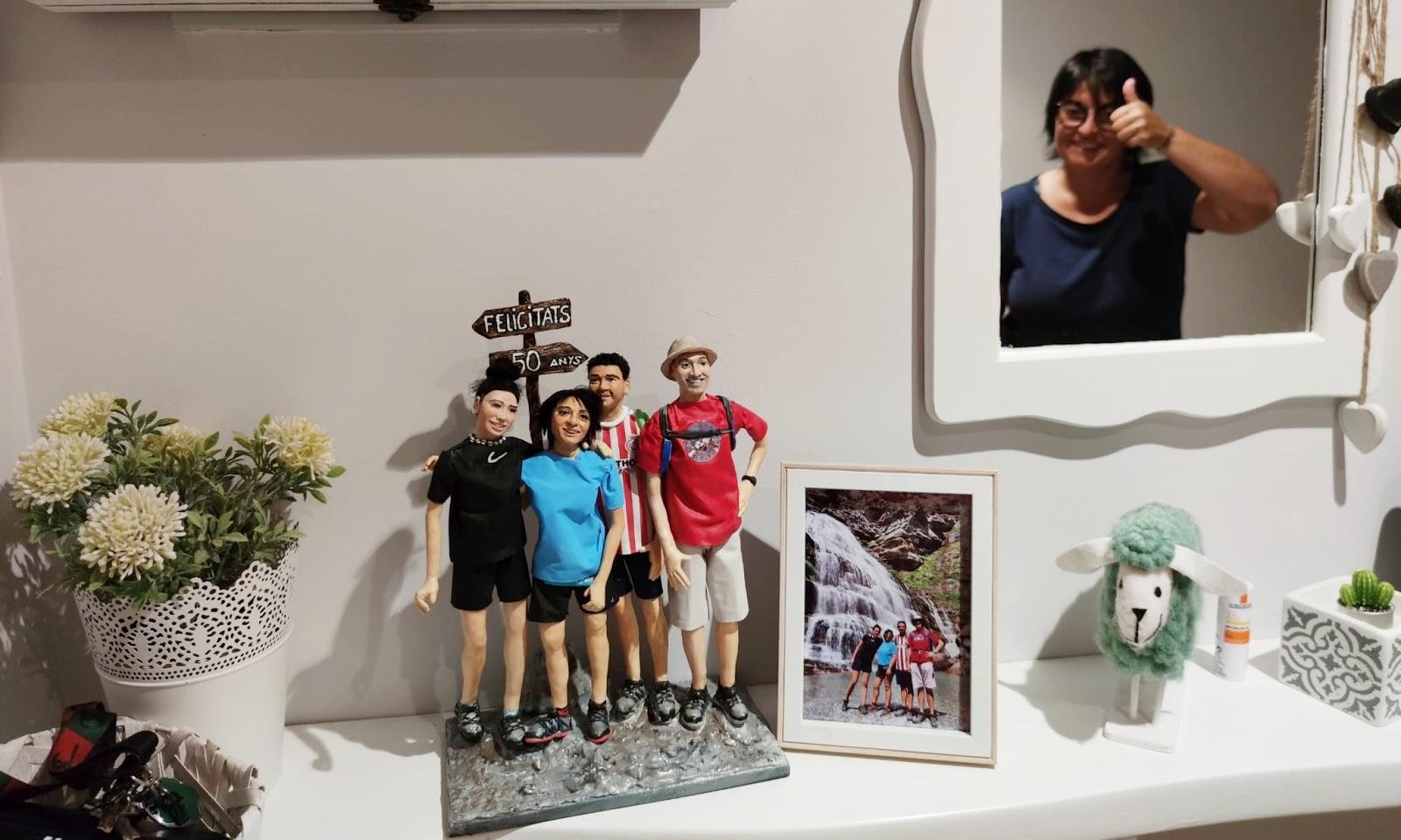 figuras para decorar de tu familia como la foto
