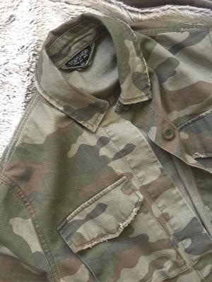 Topshop's camo jacket