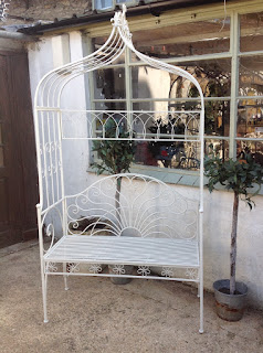 Metal painted arch seat £165.00 (free local delivery)