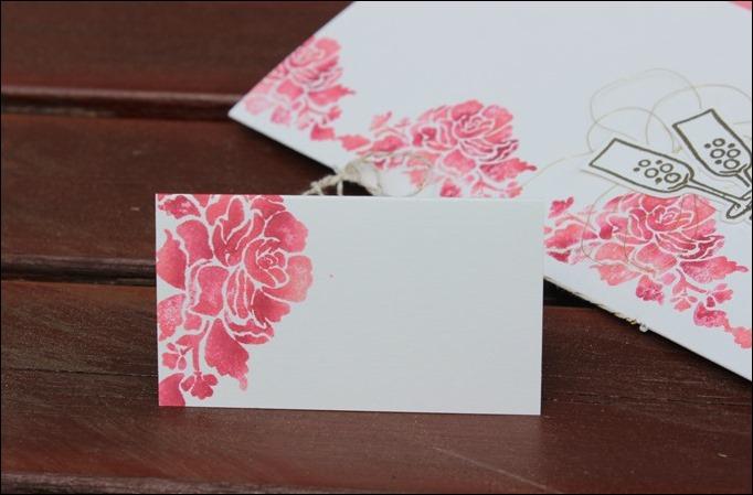 Florale Grüße Stampin Up Hochzeit Einladung Menükarte Platzkarte Pink Rosa Gold Schimmer 06