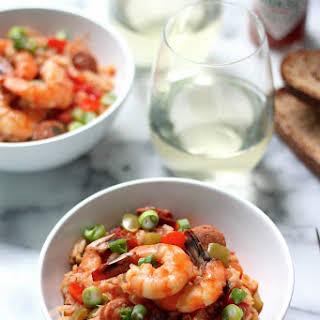 Shrimp & Chorizo Cajun Jambalaya.
