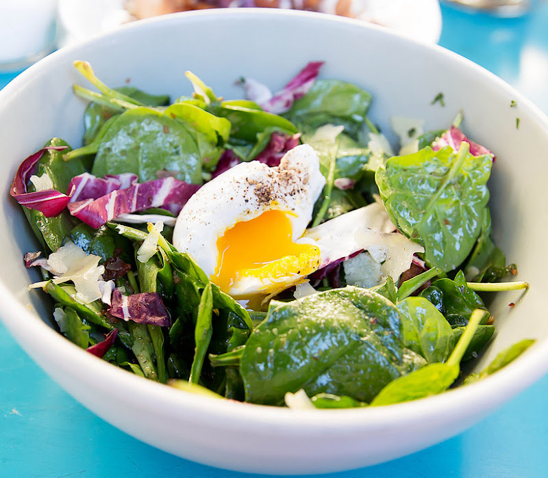 close-up photo of SPINACH SALAD