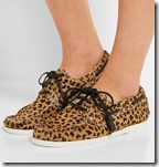 Top Shop Unique leopard print calf hair boat shoes