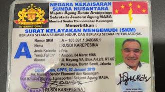 Ya Ampun Apa Lagi Ini , Polisi  Tilang Pengendara Gunakan SIM dan STNK Kekaisaran Sunda Nusantara