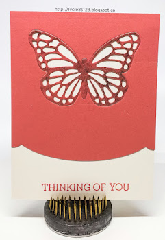 Linda Vich Creates: Catalog Party Prep Part 2. This set of In Color cards is all about lines, from the die cut border to the intricate lines of the inset butterflies.