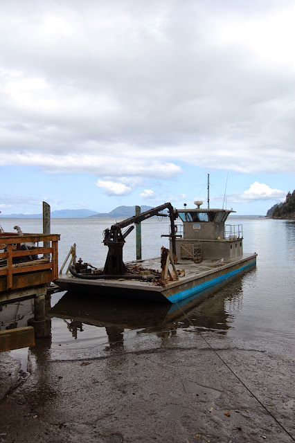 A work boat docked at Taylor Shellfish Farm. / Credit: Bellingham Whatcom County Tourism
