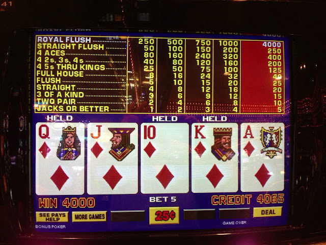 Royal Flush at the Four Queens