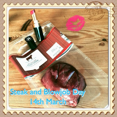 Steak & BJ Day, Steak and Blowjob Day March 14