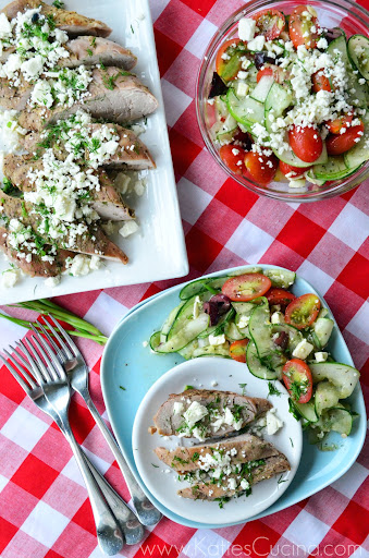 Grilled Greek Pork Tenderloin from KatiesCucina.com #grilling #recipe
