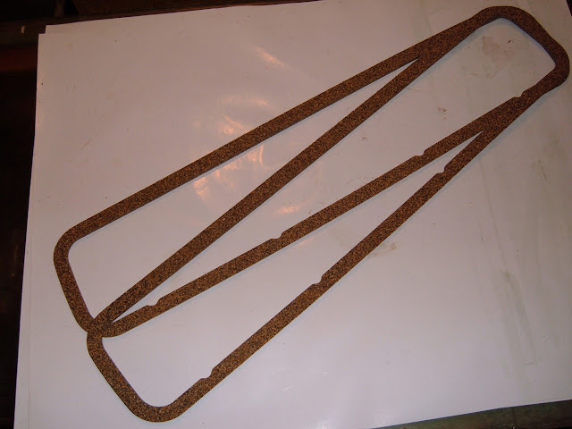 Think Valve Cover Gaskets for 1953-63 and 64-66 GS aluminum valve covers. 18.00 a pr.
