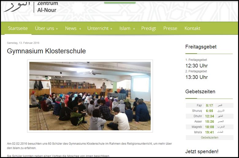 Gymnasium Klosterschule in der Moschee