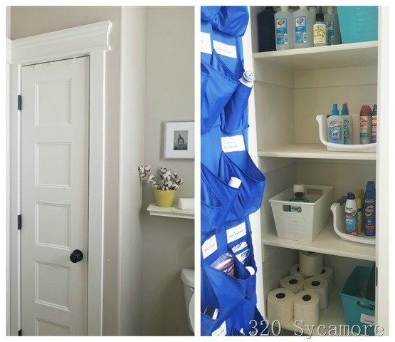 linen closets in bathroom