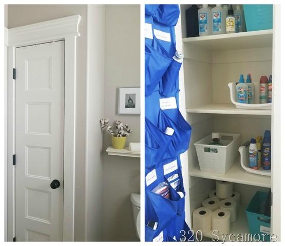 linen closets in bathroom
