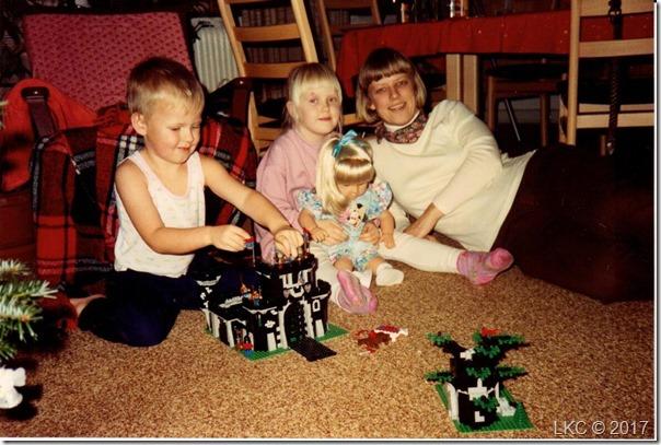 Juleaften 91  Søren, Trine, Lene
