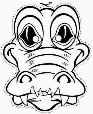 COCODRILO mascara de animales  para colorar (50)_thumb
