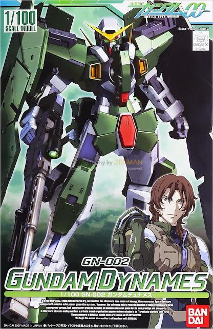 Mô hình Gundam Dynames GN-002 tỷ lệ 1/100 Scale Model được sản xuất tại Nhật bản