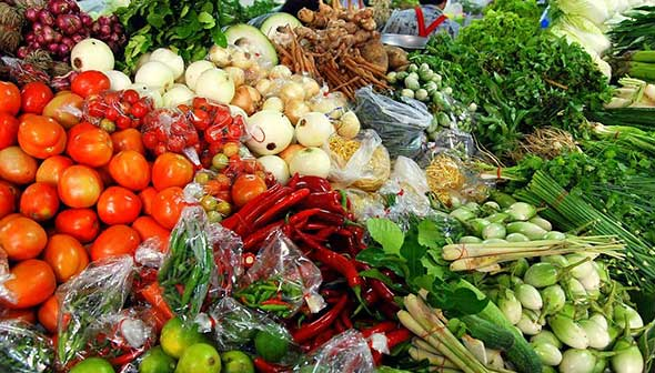 Thai market vegetables