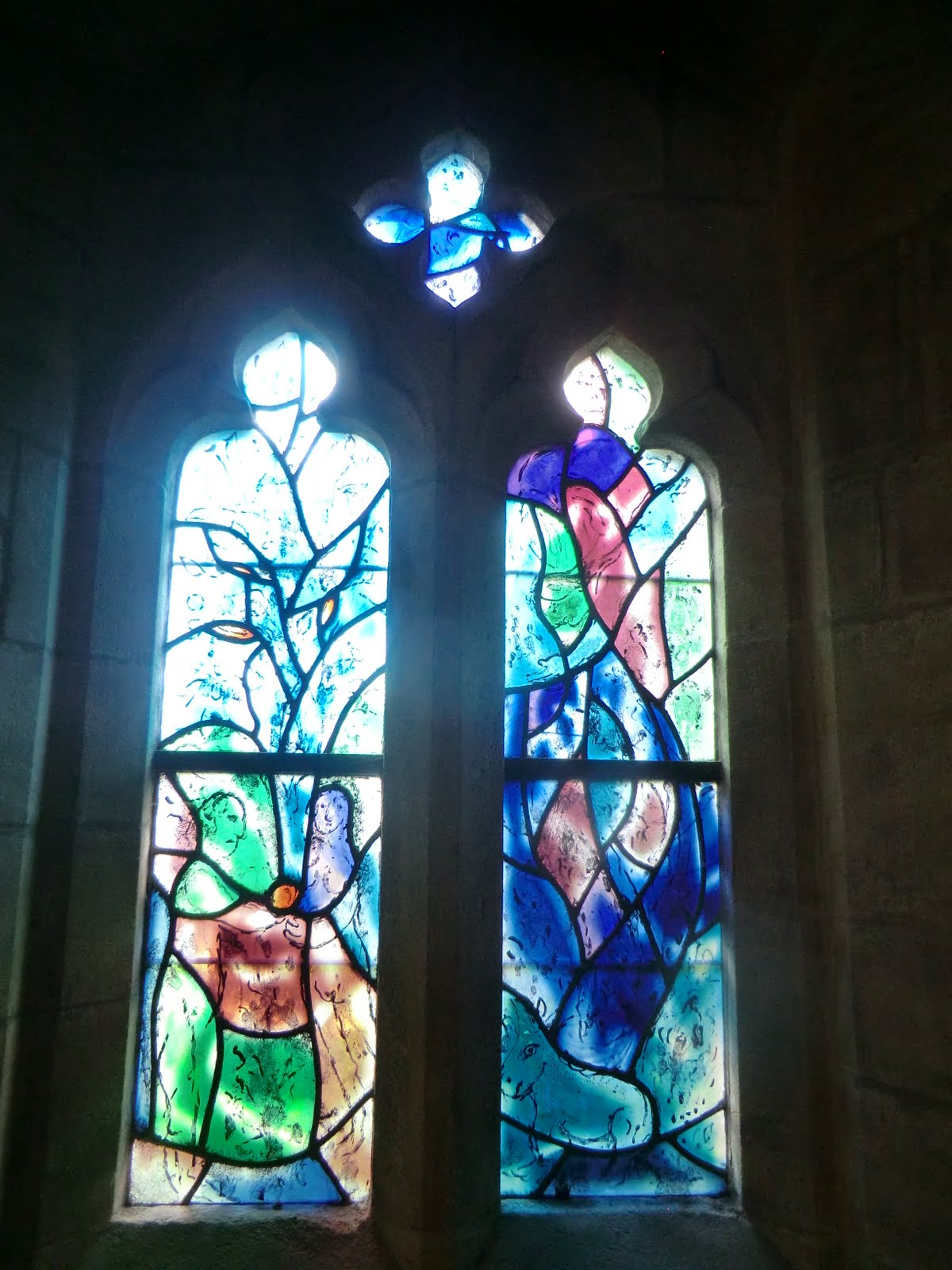 CIMG1559 Chagall window #1, All Saints church