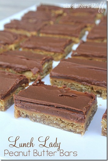 Peanut Butter Bars Recipe - These look like such a yummy snack for kids or dessert that adults would love too. YUM!