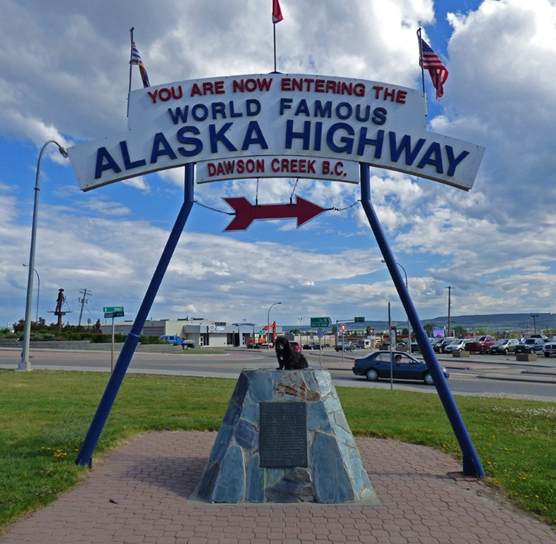 Skruffy, Alaskan Highway Mile One