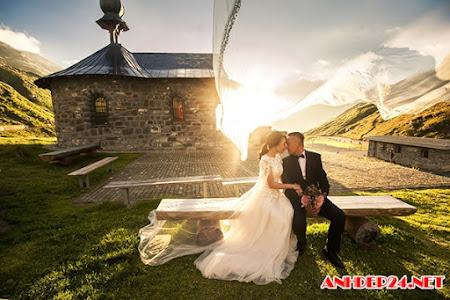 Ảnh cưới đẹp như tranh vẽ giữa trời Âu của đôi Việt kiều Đức