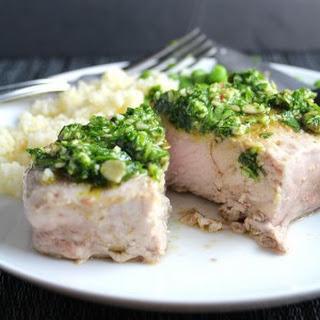 Cilantro Pesto Pork Chops Recipe