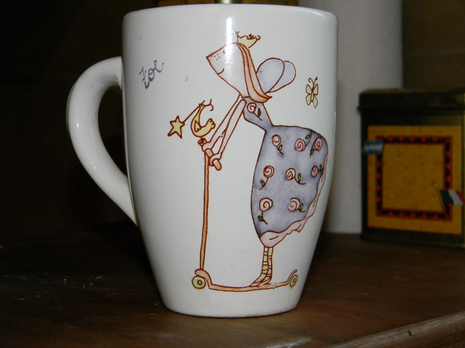 Vajilla personalizada tazas pintadas a mano - Vajillas pintadas a mano ...