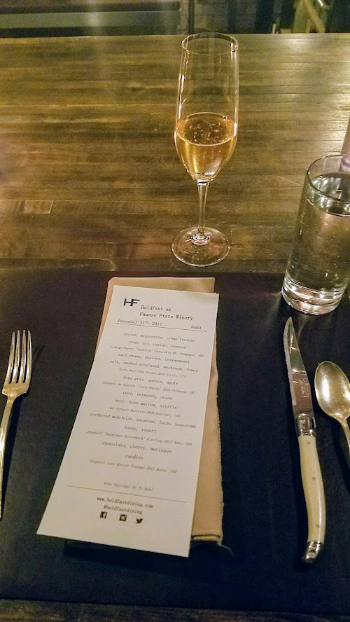 Holdfast Dining New Year's Dinner 2018, 10 course dinner with 6 wine pairings