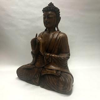 Carved Wood Buddha Statue