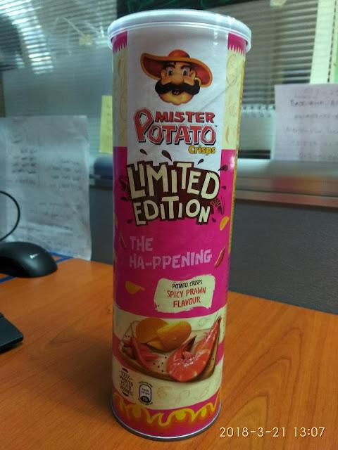 Mister Potato Crisp : Spicy Prawn Flavour (Limited Edition)