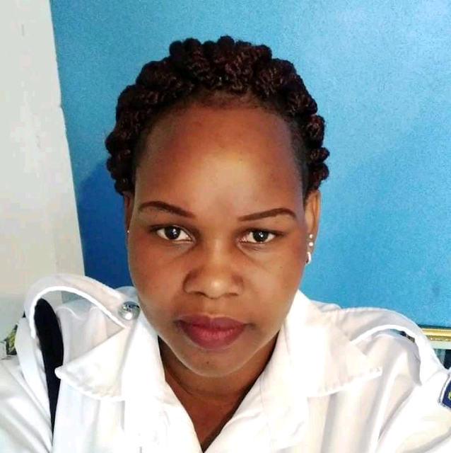 Caroline Kangogo, the police woman implicated of killing Police Constable John Ogweno