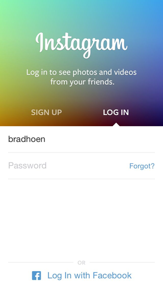 2: Create an account on Instagram.