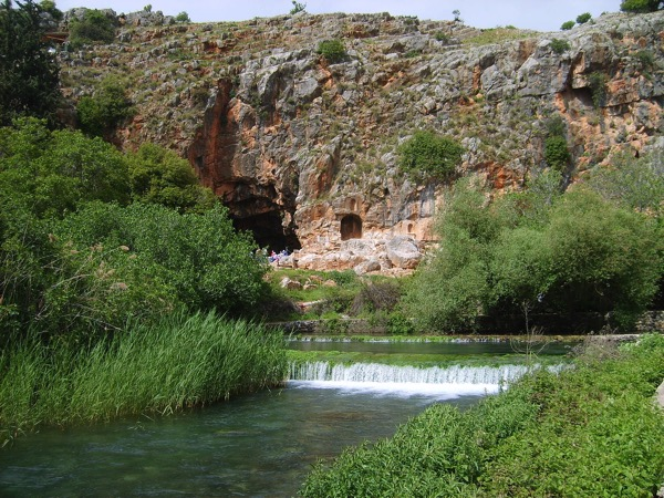 Banias Spring Cliff Pan s Cave