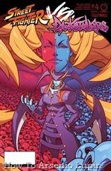 Actualización 01/06/2018: Se agrega el numero 4 de Street Fighter Vs. Darkstalkers por Shadow of the Bat, LorZeus, Toku Spidey y Azurik para las paginas de Facebook Elrincongamercom y Mazinger project. ¡Los luchadores de dos mundos se han reunido, y los esquemas del demoníaco Jedah y la Angélica Gill se revelan por completo! Mientras tanto, Blanka se encuentra siendo perseguido por un cazador de Darkstalker: ¡la maníaca B.B.Hood!
