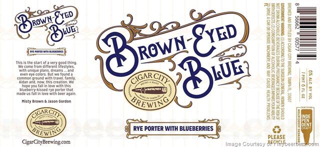 Cigar City Adding Brown-Eyed Blue Rye Porter