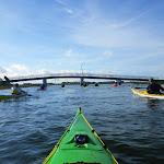 040-We paddelen door het mooie Noordwaard vaarwater.
