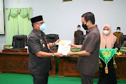 Wabup Soppeng Serahkan Ranperda RPJMD 2021-2026 dan Penyampaian Tanggapan 2 Ranperda Inisiatif DPRD