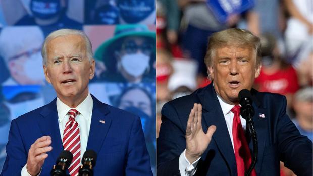 Biden adelanta a Trump en el estado clave de Pensilvania.