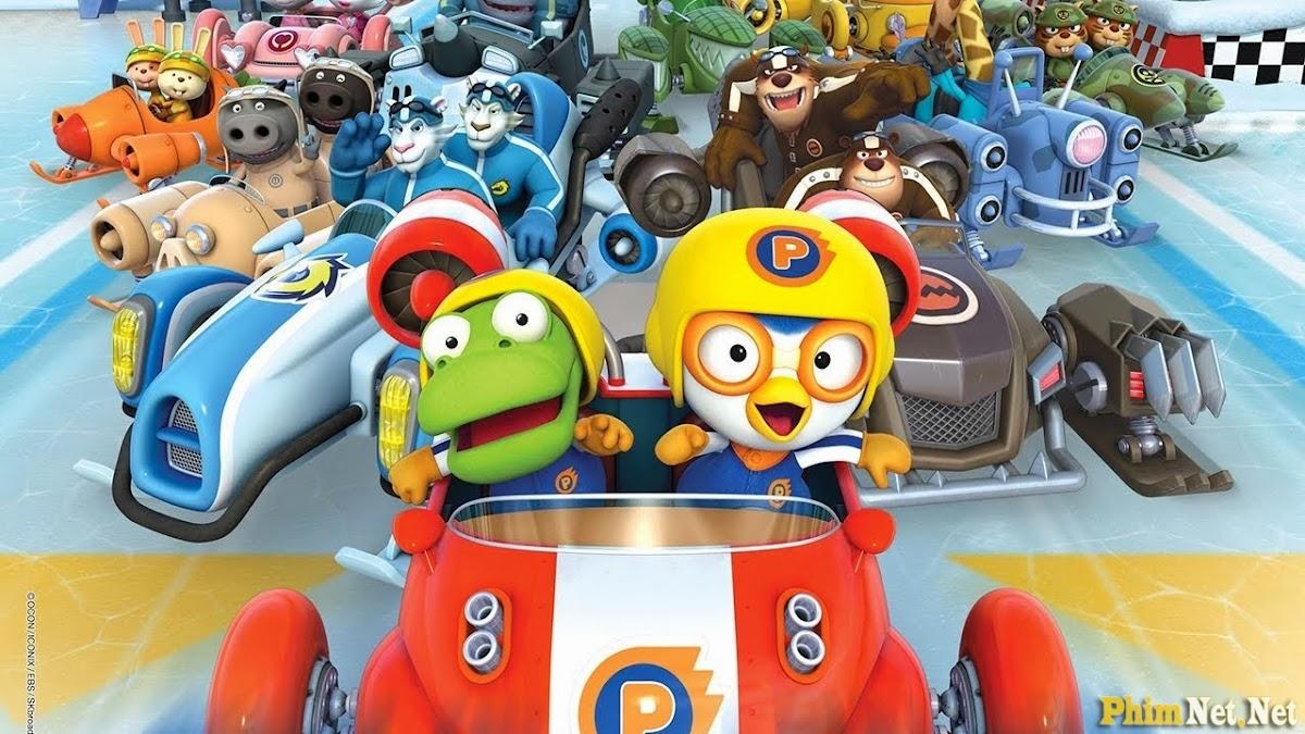 Xem Phim Pororo Đường Đua Mạo Hiểm - Pororo The Racing Adventure - Wallpaper Full HD - Hình nền lớn