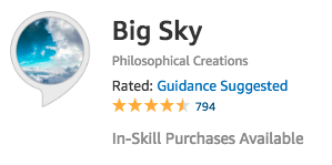 Favorite Alexa Skills: Big Sky Weather