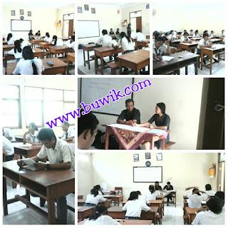 Suasana Ujian Sekolah di SMK Teknologi Wira Bhakti