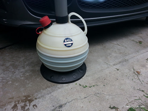 Fiat 500 Oil Change with Pela Oil Extractor
