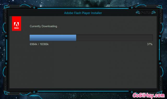 adobe flash player đang tải file nâng cấp