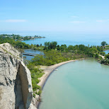 mesmerizing lookout over Scarborough Bluffs Park in Toronto in Toronto, Ontario, Canada