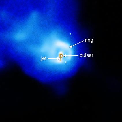 estrutura em forma de anel em torno do pulsar