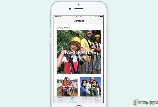 Ứng dụng Ảnh trên iOS 10 mang đến nhiều tính năng mới